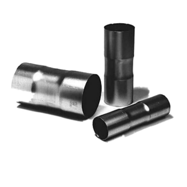 Doppelmuffe Auspuff Rohrverbinder Adapter Stahl aluminisiert